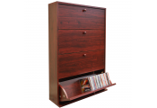 CD 200 -  200 CD Storage Cupboard Tilting 4 Drawer - Mahogany