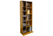 CLAREMONT - 223 CD / 65 DVD Blu-ray Video Multimedia Storage Unit - Pine