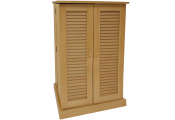VICTORIA - 600 CD / 250 DVD / Blu-ray Multimedia Storage Cabinet - BEECH