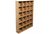 PIGEON HOLE - 480 CD / 312 DVD Blu-ray Media Cubby Storage Shelves - Oak
