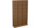 PIGEON HOLE - 588 CD / 378 DVD Blu-ray Media Storage Unit - Oak