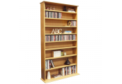 HARROGATE - 760 CD / 318 DVD / Blu-ray Media Storage Shelves - Beech