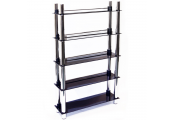 MATRIX - 5 Tier 165 DVD Blu-ray / 250 CD / Media Storage Shelves - Black