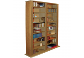 GENESIS - Multimedia 1060 CD / 420 DVD Blu-ray Storage Shelves - Oak