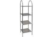ATHENA - 4 Tier Metal Bathroom Storage / Display Shelves - Silver