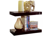 GLOSS - Wall Mounted 40cm Floating Shelf - Pack of Two - Black