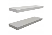 Wall Mounted 70cm Floating Shelves - Pack of Two - White