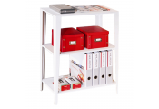CHELSEA - Metal Two Shelf Storage Unit - White