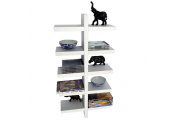 ESSA - Wall Mounted Floating 5 Tier Storage / Display Shelf - White