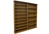 EXTRA - 1300 CD / 552 DVD / Large Media Book Storage Shelves - Oak