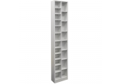 BLOCK - Tall Sleek 360 CD / 160 DVD Media Storage Tower Shelves - White