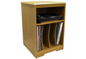 AUDIO - Turntable / LP Record / Vinyl Storage Side End / Bedside Table - Oak