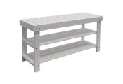 SLATS - Solid Wood 3 Shelf 12 Pair Shoe Storage Rack - White