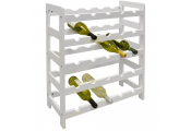 ASHBY - 5 Tier /25 Bottle Wooden Free Standing Wine Rack - White