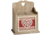 LOVE - Wood Love Heart Chintz 4 Photo Albums with Storage Box - Red