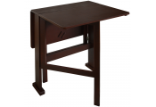 GATELEG - Drop Leaf 2 Person Compact Dining Table / Craft Table - Dark finish