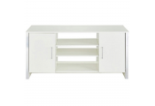 COLUMN - Modern Sideboard / Storage Cupboard / Display Unit - White / Chrome