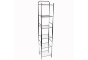 WATSONS - Bathroom / Kitchen 6 Shelves Wire Storage Unit - White