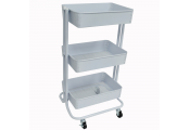 WATSONS - 3 Tier Storage Unit On Wheels - White
