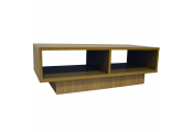 WATSONS - Compact Double Cubby TV Media Coffee Table - Oak