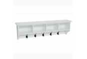 WATSONS - Hallway Wall Storage Shelf With Hooks - White