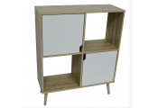 WATSONS - Open Sideboard Cube Shelving With 2 Doors - Oak / White