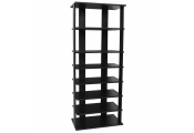 STACKED - 7 Tier Free Standing Storage Shelf - Black