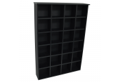 PIGEON HOLE - 480 CD / 312 DVD Blu-ray Media Cubby Storage Shelves - Black