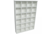 PIGEON HOLE - 480 CD / 312 DVD Blu-ray Media Cubby Storage Shelves - White