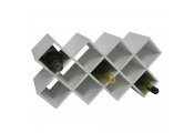 CROSS - 14 Bottle Free Standing Wine Storage Rack - White