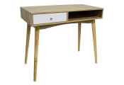 INDUSTRIAL - 1 Drawer Office Computer Desk / Dressing Table - Oak / White