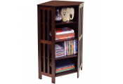 MISSION - Corner 132 CD / 96 DVD Blu-ray Media Storage Shelf Unit - Dark