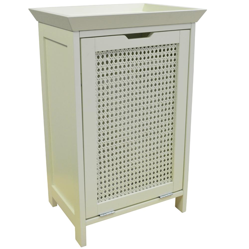 Weave Floor Standing Laundry Cupboard Linen Bin