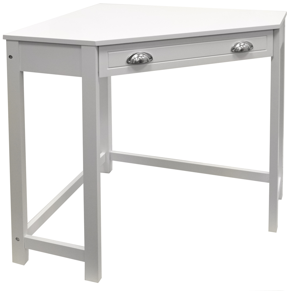 Haven compact wooden corner computer desk dressing