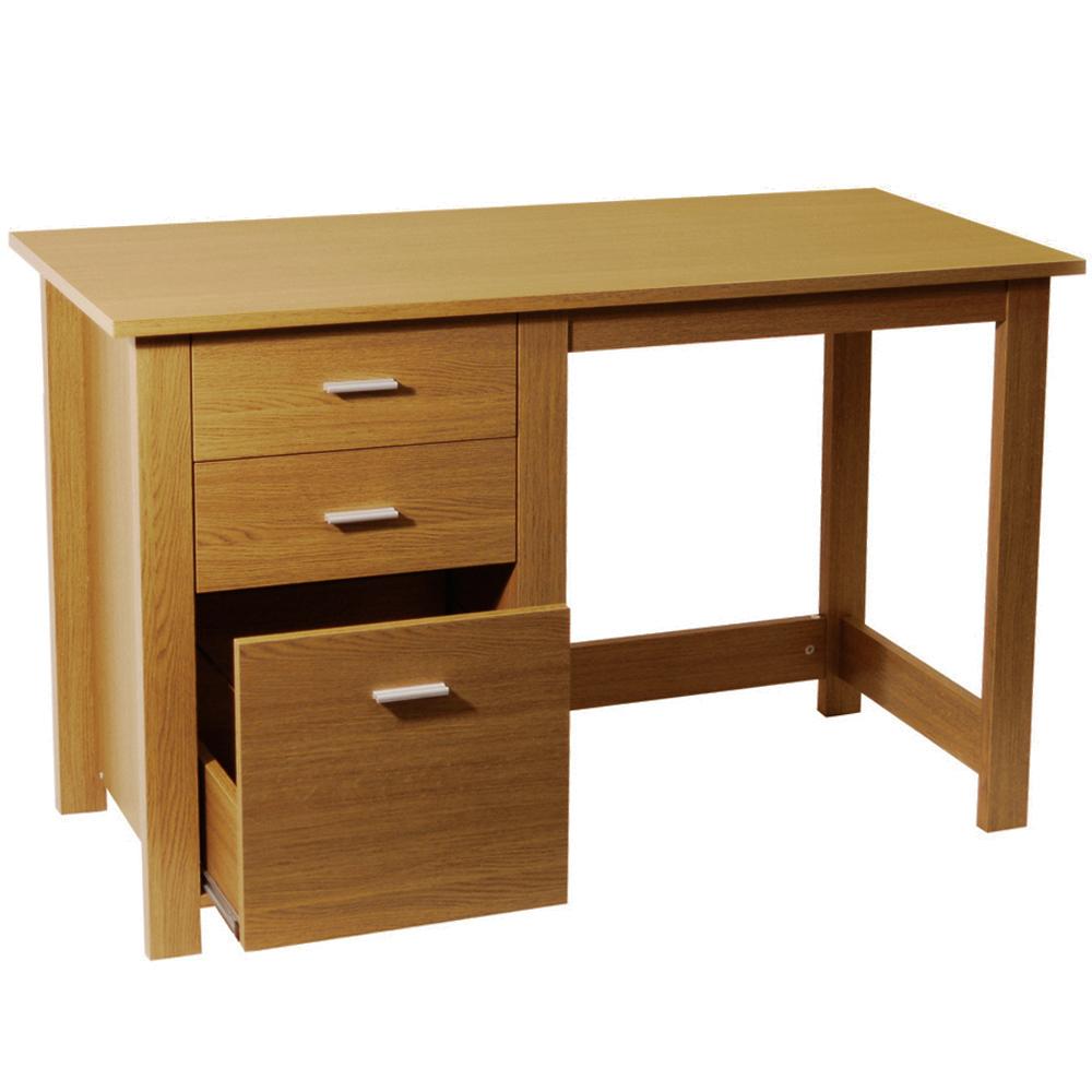 Montrose home office storage desk workstation oak watson 39 s on the web furniture - Oak office desk ...