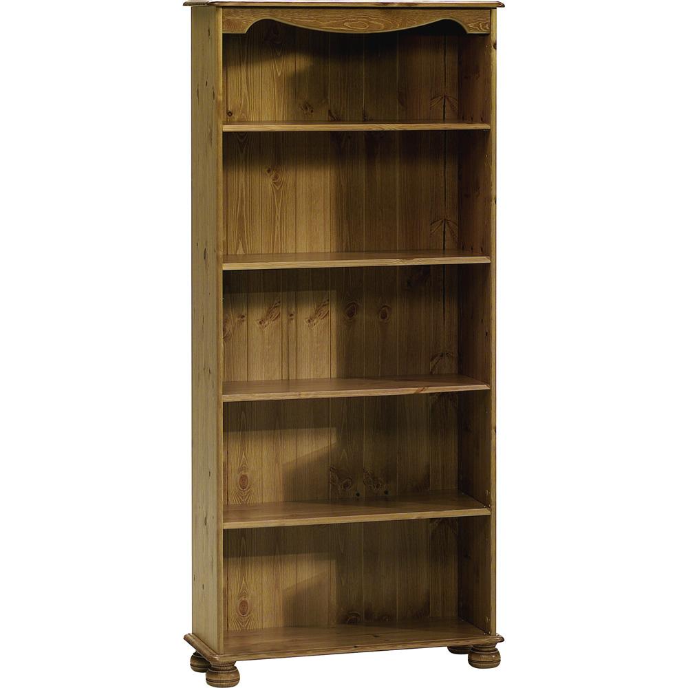 strand solid wood 5 shelf storage bookcase antique. Black Bedroom Furniture Sets. Home Design Ideas