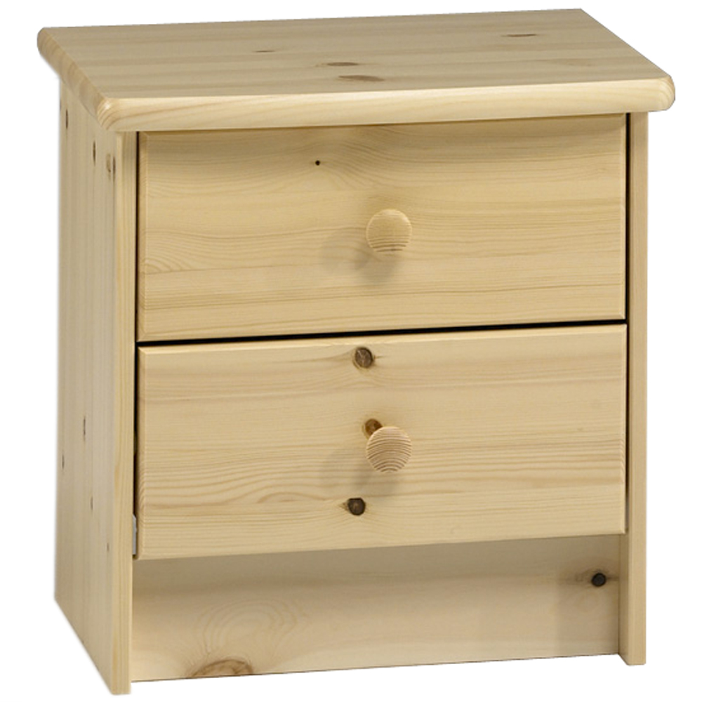HARTFORD - Solid Wood 2 Drawer / Bedside Table / Nightstand / Storage Chest - Pine